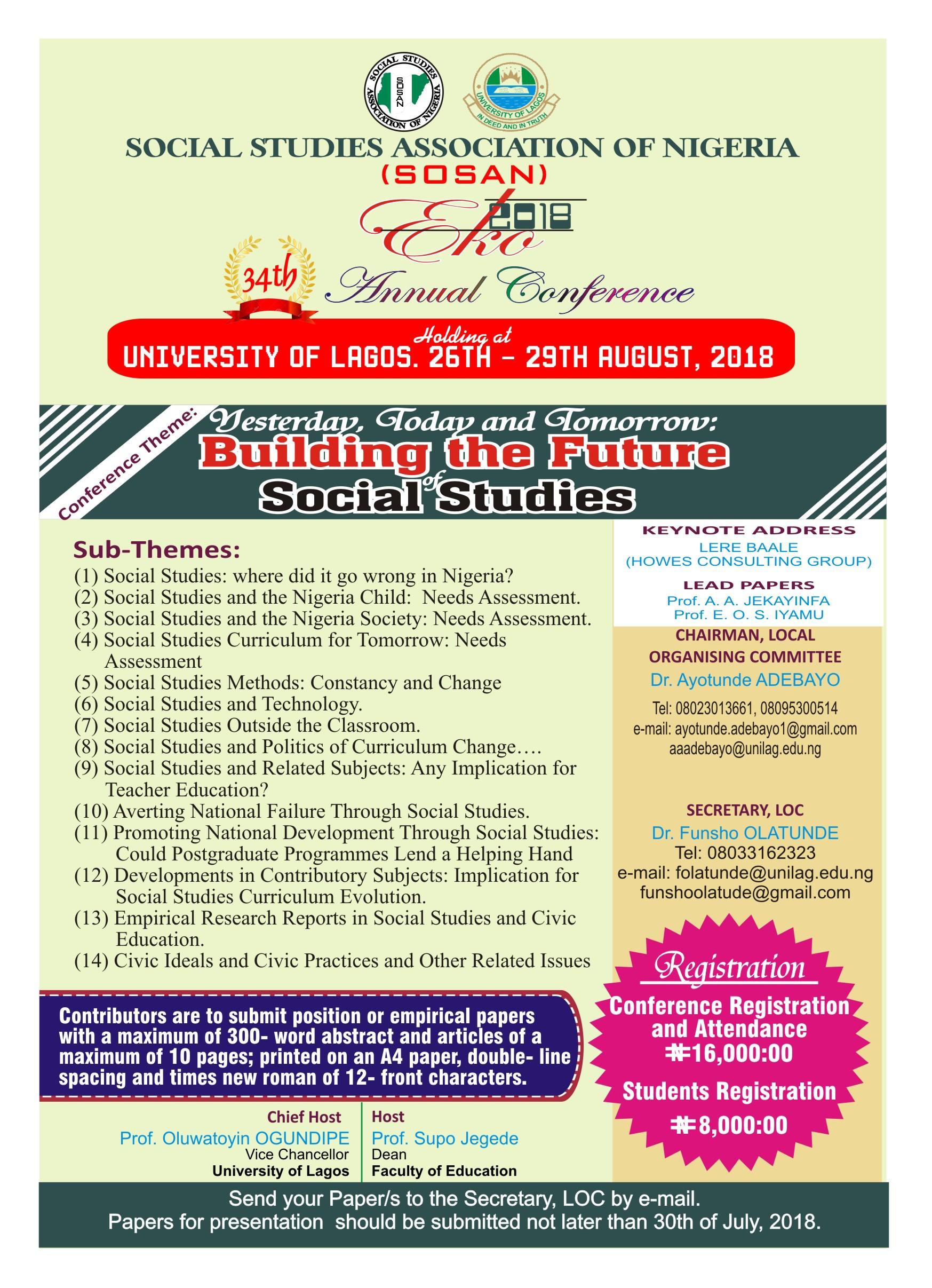 SOSAN 34th Conference Flyer